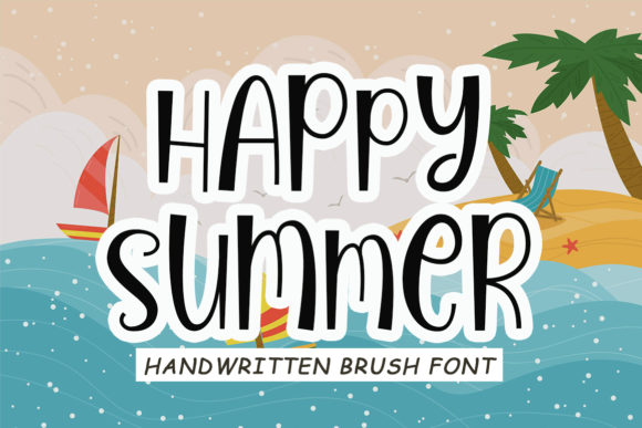Print on Demand: Happy Summer Display Fuente Por Niki Studio