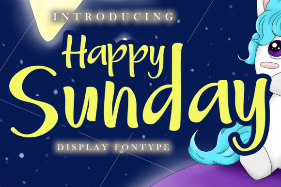 Print on Demand: Happy Sunday Display Font By Skiiller Studio