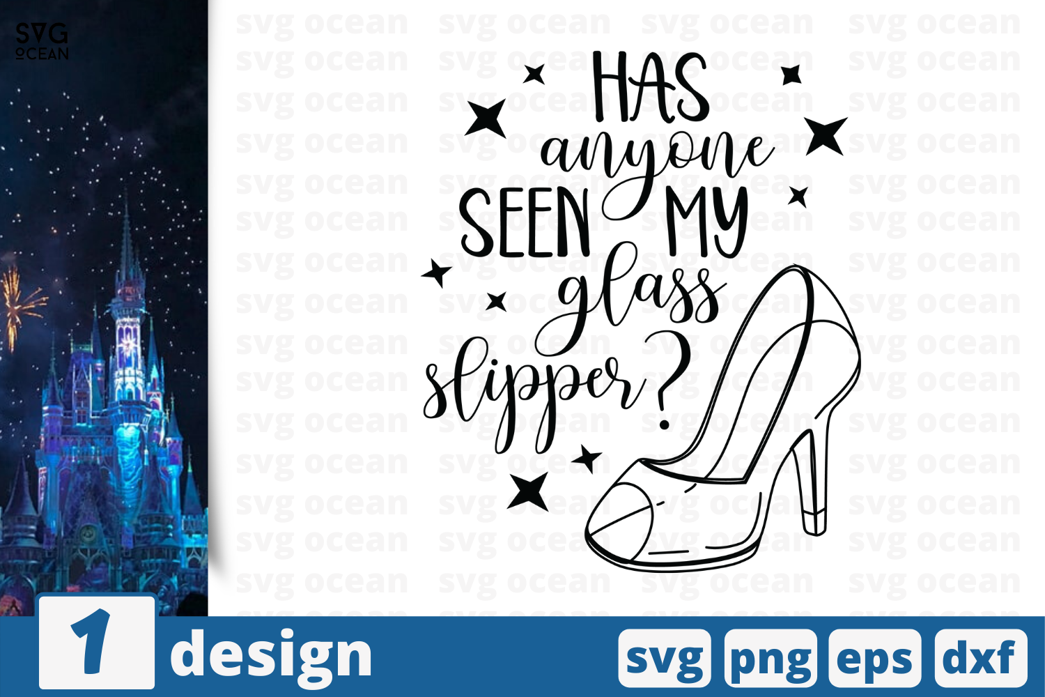 Download Free Has Anyone Seen My Glass Slipper Graphic By Svgocean Creative Fabrica for Cricut Explore, Silhouette and other cutting machines.