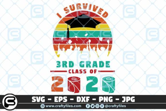 I Survived the 3rd Grade Class of 2020 Graphic Crafts By Crafty Files