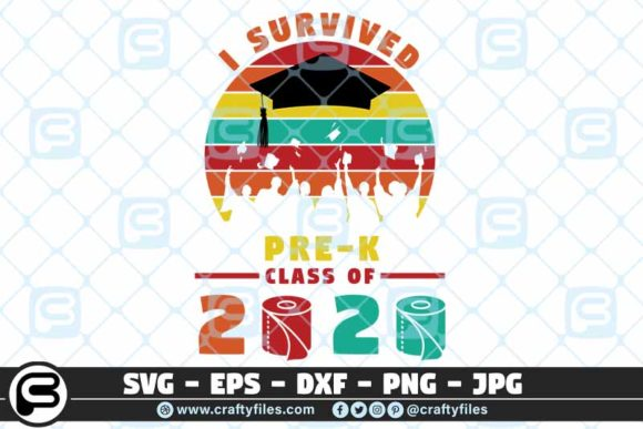 I Survived the Pre-k Grade Class of 2020 Graphic Crafts By Crafty Files