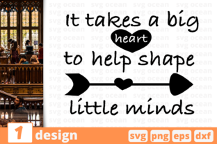 Download Free It Takes A Big Heart Quote Graphic By Svgocean Creative Fabrica for Cricut Explore, Silhouette and other cutting machines.