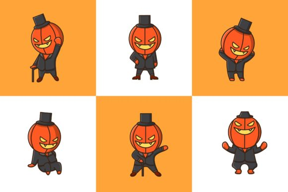 Download Free Jack O Lantern Set Vector Graphic By Vectormood Creative Fabrica for Cricut Explore, Silhouette and other cutting machines.