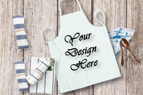 Kitchen Mockups White Apron Graphic Product Mockups By MockupsByGaby - Image 1