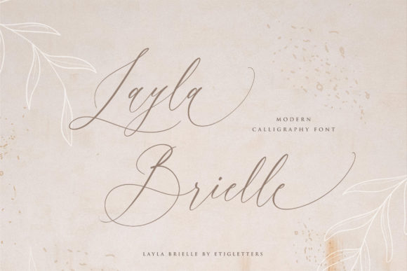 Print on Demand: Layla Brielle Script & Handwritten Font By etigletters