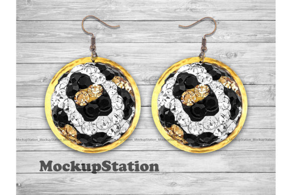 Download Free Leopard Round Earring Sublimation Graphic By Mockup Station SVG Cut Files