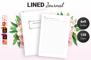 Print on Demand: Lined Journal Decorated | KDP Interior Graphic KDP Interiors By KDP Ninja