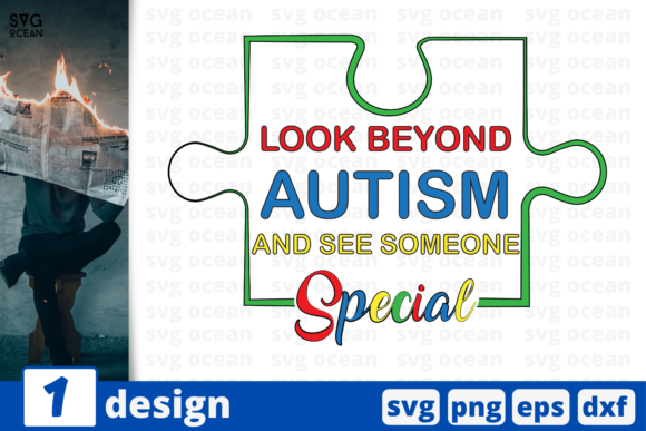 Download Free Look Beyond Autism Graphic By Svgocean Creative Fabrica SVG Cut Files