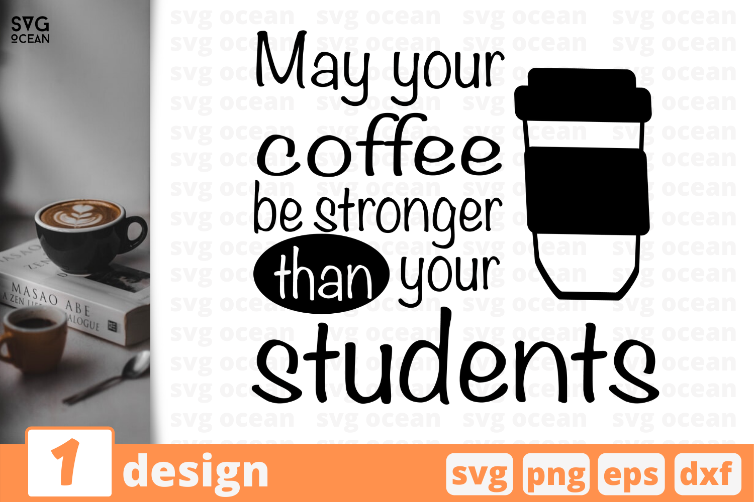 Download Free May Your Coffee Quote Graphic By Svgocean Creative Fabrica for Cricut Explore, Silhouette and other cutting machines.