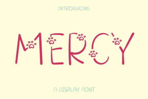 Print on Demand: Mercy Display Font By Wanida Toffy