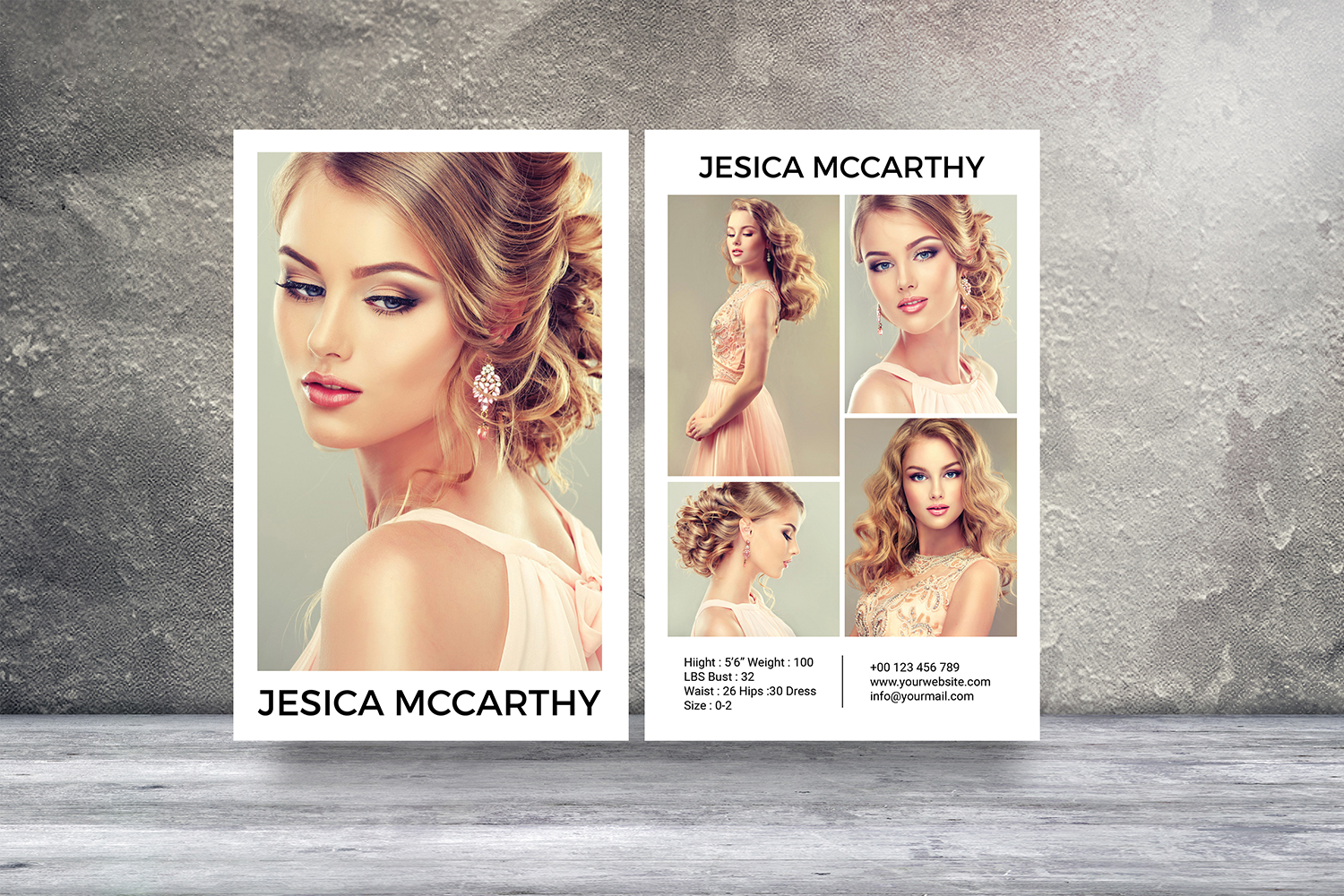 Modeling Comp Card Template Graphic by sistecbd · Creative Fabrica In Download Comp Card Template