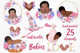 Print on Demand: Newborn Clipart Cute Babies Graphic Illustrations By LeCoqDesign 1