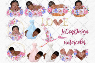 Print on Demand: Newborn Clipart Cute Babies Graphic Illustrations By LeCoqDesign 2