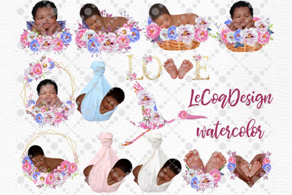 Newborn Clipart Cute Babies Graphic Illustrations By LeCoqDesign - Image 2
