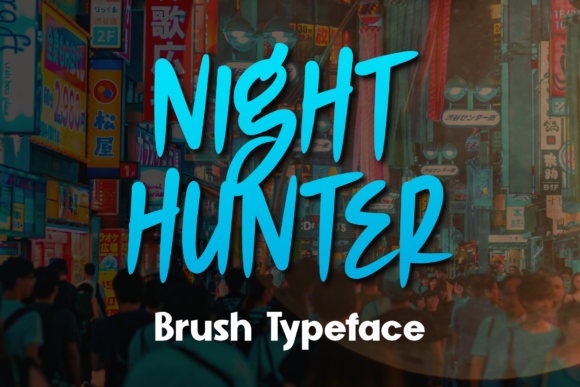 Print on Demand: Night Hunter Display Font By DUMADI