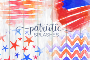Print on Demand: Patriotic America July Fourth Splashes Graphic Backgrounds By Prawny 1