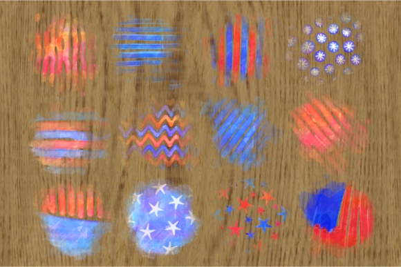 Print on Demand: Patriotic America July Fourth Splashes Graphic Backgrounds By Prawny - Image 2