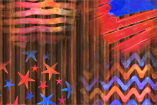 Print on Demand: Patriotic America July Fourth Splashes Graphic Backgrounds By Prawny 5