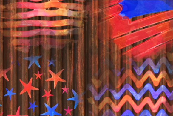 Print on Demand: Patriotic America July Fourth Splashes Graphic Backgrounds By Prawny - Image 5