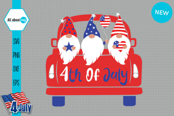 Download Free Patriotic Gnomies In Truck Graphic By All About Svg Creative for Cricut Explore, Silhouette and other cutting machines.