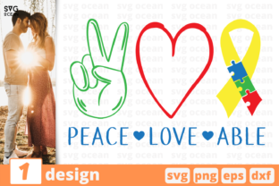 Download Free Peace Love Able Graphic By Svgocean Creative Fabrica for Cricut Explore, Silhouette and other cutting machines.