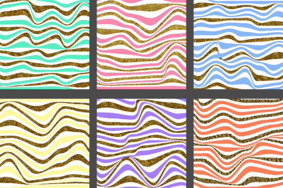 Download Free Rainbow Gold Stripes Background Graphic By Pinkpearly Creative for Cricut Explore, Silhouette and other cutting machines.