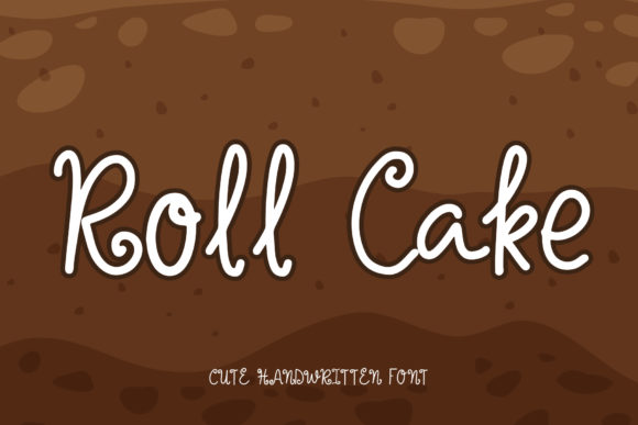 Print on Demand: Roll Cake Script & Handwritten Font By AquariiD