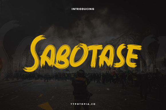 Print on Demand: Sabotase Display Font By typotopia