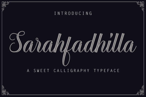 Print on Demand: Sarahfadhilla Script & Handwritten Font By Rt Creative