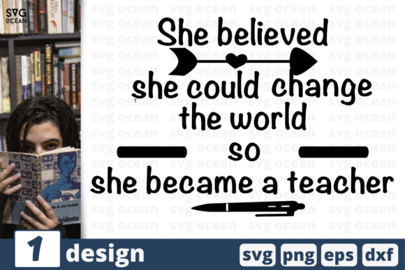Download Free She Could Change The World Quote Graphic By Svgocean Creative Fabrica for Cricut Explore, Silhouette and other cutting machines.