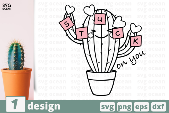 Download Free Stuck On You Graphic By Svgocean Creative Fabrica for Cricut Explore, Silhouette and other cutting machines.