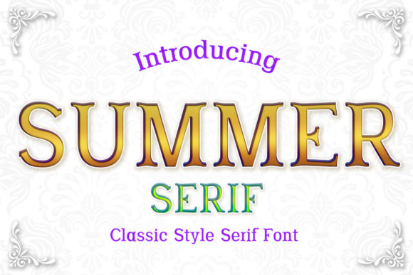 Print on Demand: Summer Serif Font By numnim