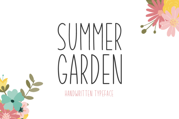 Print on Demand: Summer Garden Display Font By Seemly Fonts - Image 1