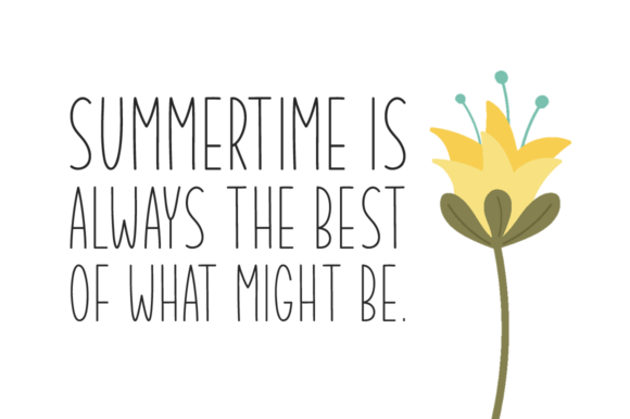 Print on Demand: Summer Garden Display Font By Seemly Fonts - Image 2