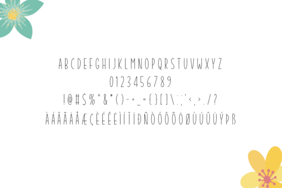 Print on Demand: Summer Garden Display Font By Seemly Fonts - Image 5