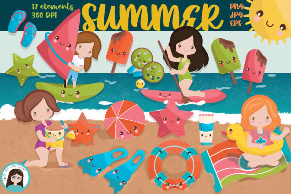 Summer Clipart Graphic Illustrations By CuteLittleClipart