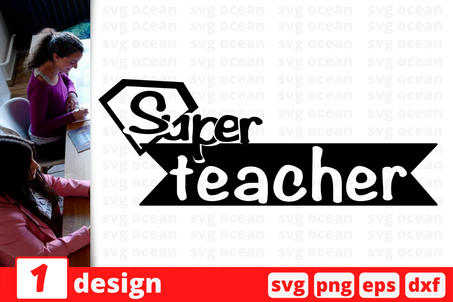 Download Free Super Teacher Svg For Cricut Graphic By Svgocean Creative Fabrica for Cricut Explore, Silhouette and other cutting machines.
