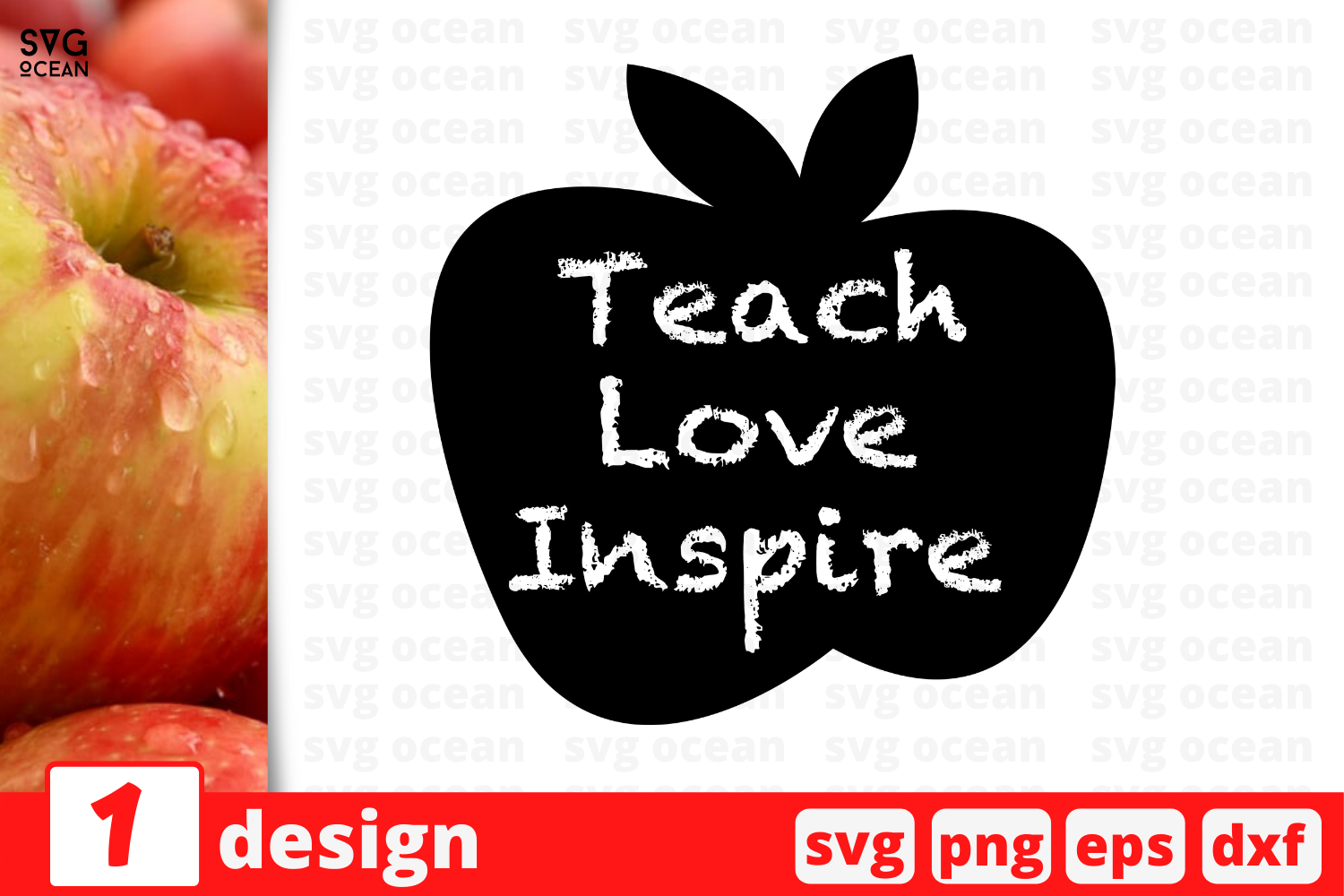 Download Free Teach Love Inspire Graphic By Svgocean Creative Fabrica for Cricut Explore, Silhouette and other cutting machines.