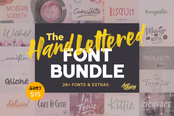 Print on Demand: The Hand Lettered Font Bundle  By Ayca Atalay
