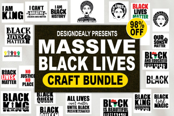 Print on Demand: The Massive Black Lives Craft Bundle Graphic Print Templates By Designdealy.com