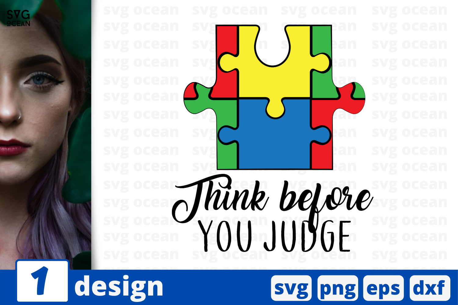 Download Free Think Before You Judge Graphic By Svgocean Creative Fabrica for Cricut Explore, Silhouette and other cutting machines.