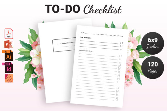 Print on Demand: To Do Checklist - KDP Interior Gráfico Páginas KDP Por KDP Ninja
