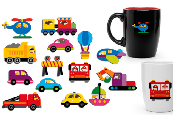 Download Free Transportation Vehicle Bundle Graphic By Revidevi Creative Fabrica SVG Cut Files