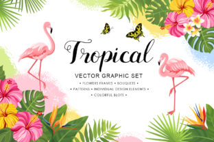 Print on Demand: Tropical Vector Graphic Set Graphic Illustrations By Nata Art Graphic