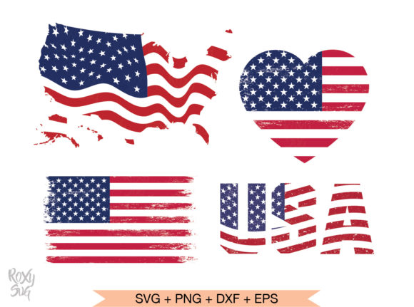 Print on Demand: USA Distressed Flag   Graphic Crafts By roxysvg26
