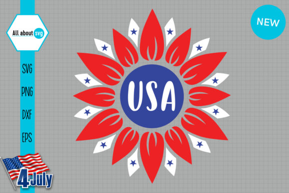 Download Free Usa Sunflower Graphic By All About Svg Creative Fabrica for Cricut Explore, Silhouette and other cutting machines.