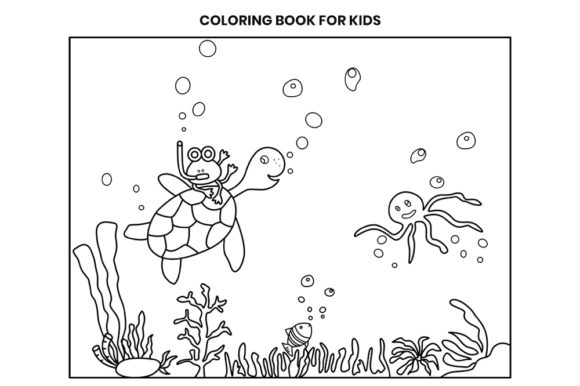 Print on Demand: Underwater Coloring Book Page for Kids Graphic Coloring Pages & Books Kids By doridodesign