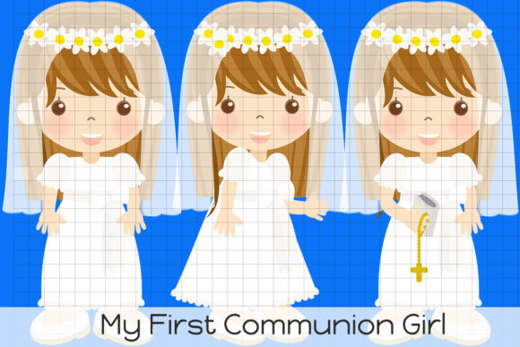 Download Free Vm My First Communion Girl Graphic By Dolls To Go Creative Fabrica for Cricut Explore, Silhouette and other cutting machines.