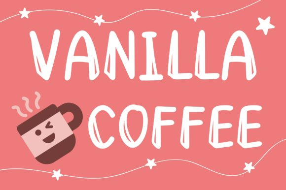 Print on Demand: Vanilla Coffee Display Font By PearlyDaisy