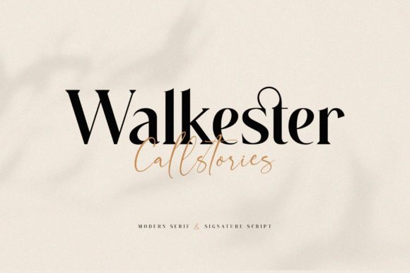 Print on Demand: Walkester Callstories Serif Font By BrandSemut - Image 1